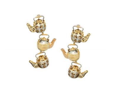 Simran Chhabra Tripling Tea  Pots Earrings