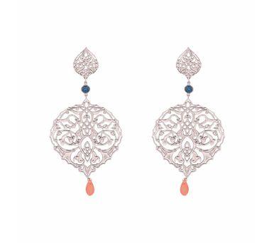 Eina Ahluwalia| Persian Jaal Drop Earring Silver