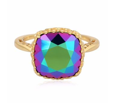 Eina Ahluwalia| persian Back Jaal  Green Ring