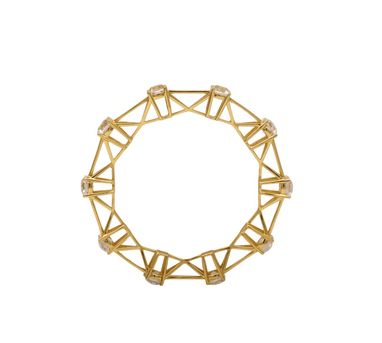 Isharya| Shimmering  Cuff Gold