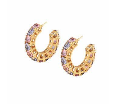 Isharya| Egyptian Goddess Rose and Sapphire Earring
