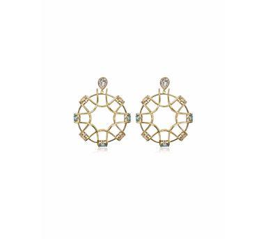 Isharya| Shimmering Gold  Aqua Earring