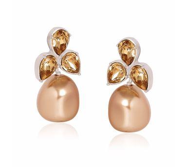 Isharya| Pearl Cluster  Champagne Earring