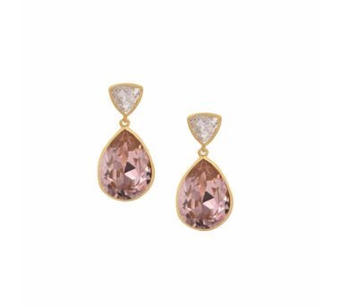 Isharya| Classic Brilliance Rose Gold Earring