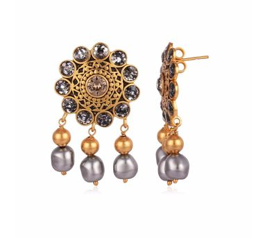 JJ Valaya|Ranas of Kutch Flower Drop Earrings