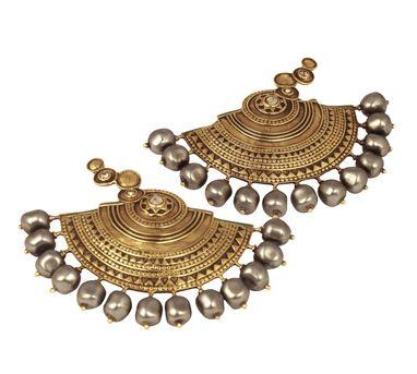 J J Valaya|Ranas of Kachch Half Circle Earrings