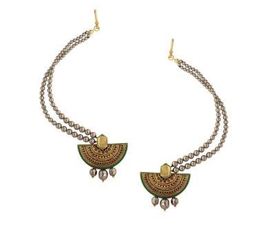 J J Valaya|Ranas of Kachch Kaan Haar Earrings