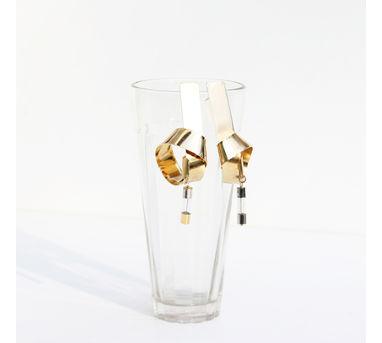 Studio Metallurgy| Big Orbital Earrings Gold