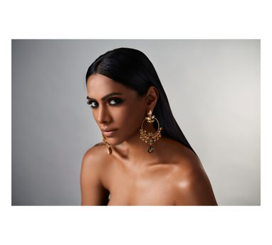 Suhani Pittie|Tribal leaf circular earring