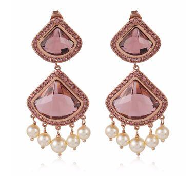 Suneet Varma|Celestial Pink Earrings