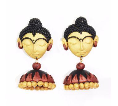 Tripti's Exclusive|Applique Buddha Jhumka