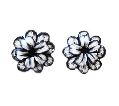 Tripti's Exclusive|Monochrome Floral Stud Earrings