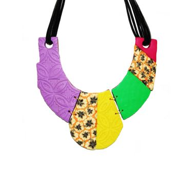 Tripti's Exclusive|Multi Colored Polymer Necklace