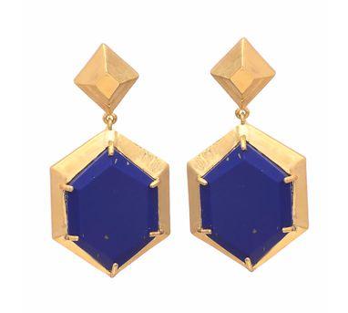Te Maya Blue Lapiz Lazuli Earrings
