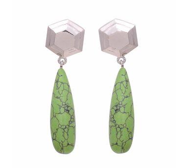 Te Maya Green Lapiz Lazuli Drop Earrings