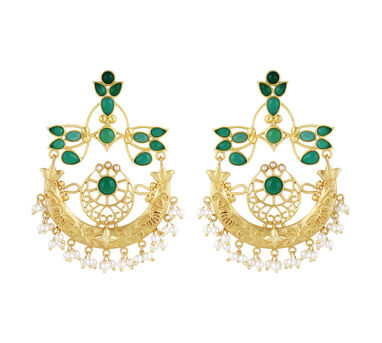 Unniyarcha|Courage Green Earrings