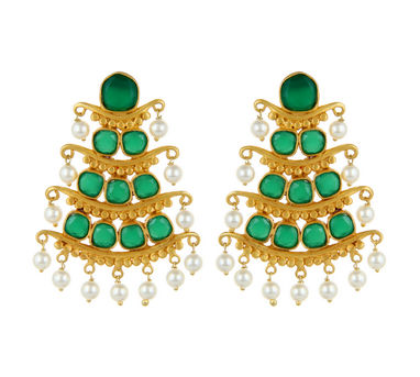 Unniyarcha|Andamaina Green Earrings