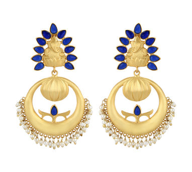 Unniyarcha|Khusa Blue Earrings