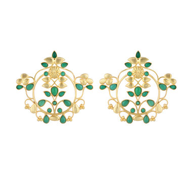 Unniyarcha|Green Vritt Earrings