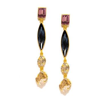 Valliyan | Pink Stone Earrings
