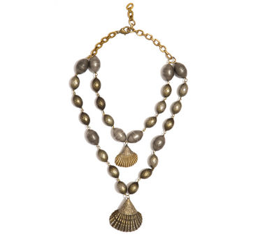 Valliyan | Double Shell Necklace