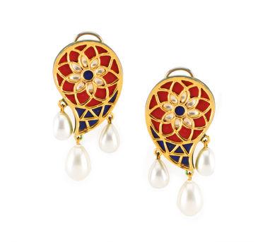 Vasundhara | Ethnic Paisley Earrings