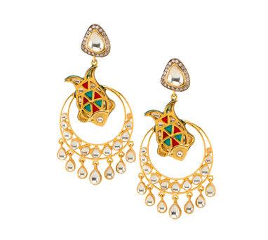 Vasundhara | Fish Chandbali Earrings