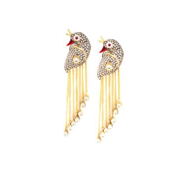 Vasundhara | Peacock Tassle Earrings