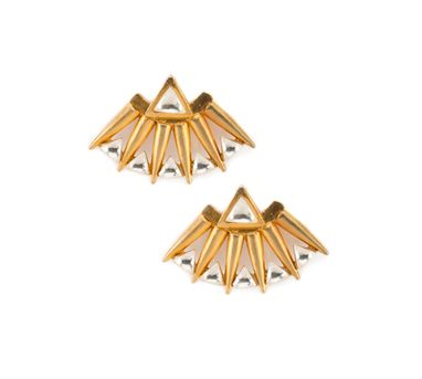 Vasundhara | Gold Fan Earrings