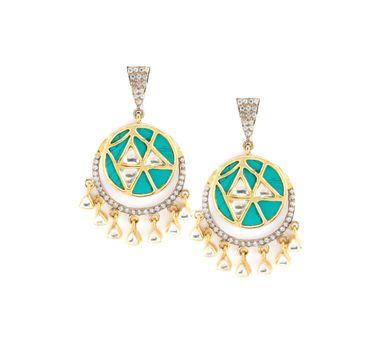 Vasundhara | Timeless Turquoise Earrings