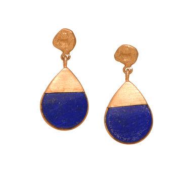 Zariin   The Potent Drop Lapis Lazuli Earrings