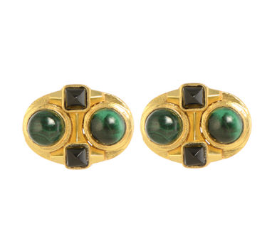 Zariin Zoe Malachite Stud Earrings