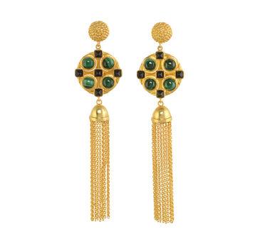 Zariin Silk Route Tassel Earrings