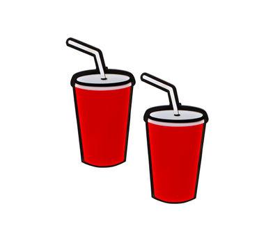 CRIMSON   Soda Drink Earrings