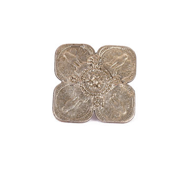 House Of Tuhina|Silver Tone 5 Paise Coin Motif  Ring