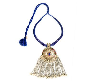 INDO CHINE | Ek Blue Medallion Neckpiece