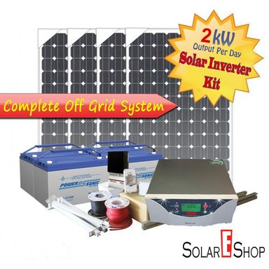 2kWH Complete Solar Inverter Kit
