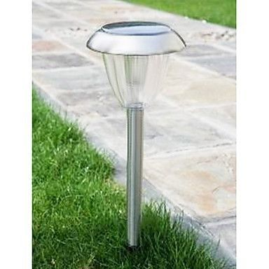 Solar Garden Light Stainless Steel with Auto On-Off Sensor ECSSMALSS01