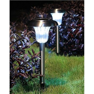 Solar Garden Stainless Steel Light with Auto On-Off Sensor EC-S1