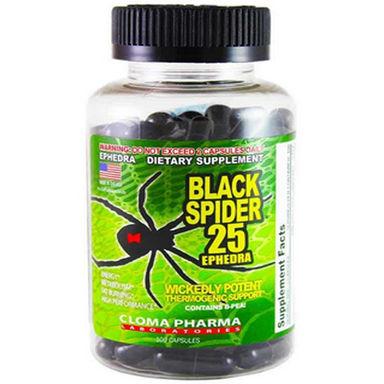 Cloma Pharma Black Spyder Ephedra 25 - 100 Caps