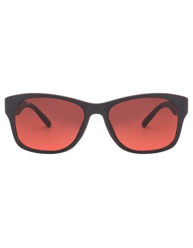 Fastrack pc001rd17 matte black maroon wayfarer sunglasses