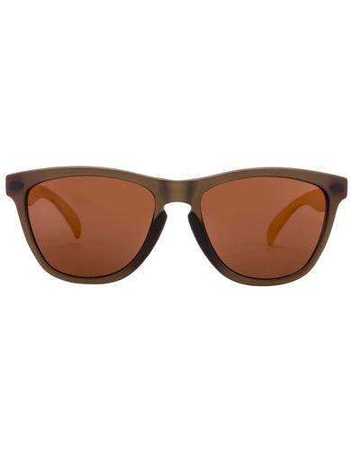Fastrack pc003br5 matte grey yellow brown 05ab wayfarer sunglasses