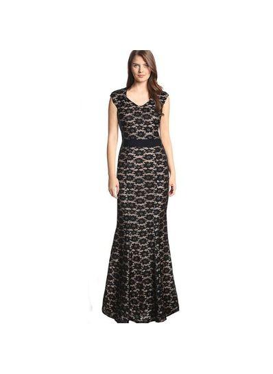 Elegant Evening Lace Gown