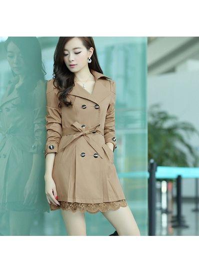 Khaki Solid Coat -KP001398