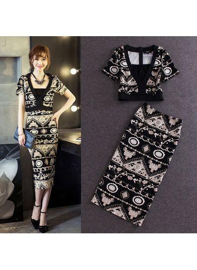 Three Piece Bodycon Dress