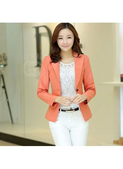 Cute Polyster Coat - Pink - KP001390