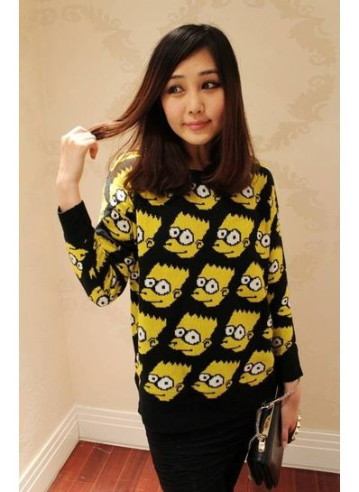Simpson Printed Cute Sweater