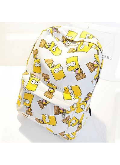 Simpson Printed Canvas Backpack
