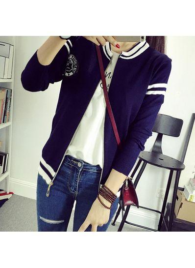 Knit Varsity coat in Three colors