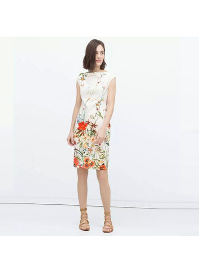 Beautiful Floral Printed Summer Dress